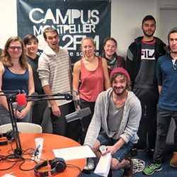 élèves de Pôle Sup Nature et les animateurs de Radio Campus