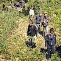 sortie nature avec les étudiants, dans l'Aude